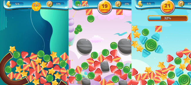 Sweety Shapes Physics Match3