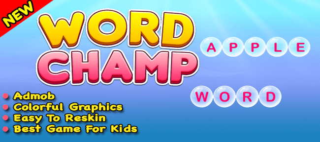 Word Champ + Word Typing Trivia Puzzle Game For Android And IOS