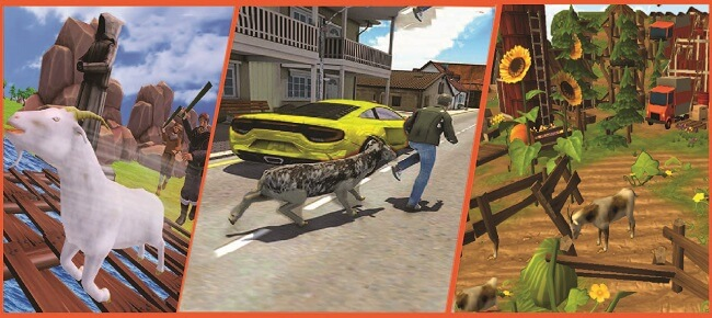 Angry Goat Rampage Craze Simulator : Crazy Goat in Town 3D