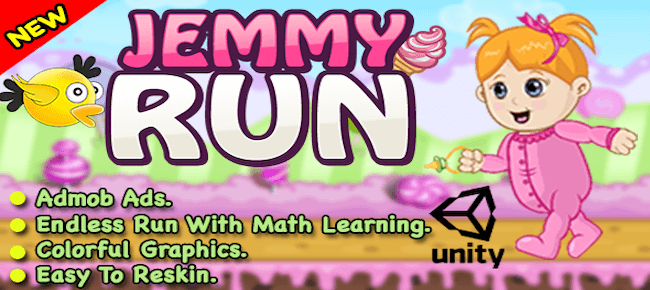 Jemmy Run + Unity Game For Android & IOS