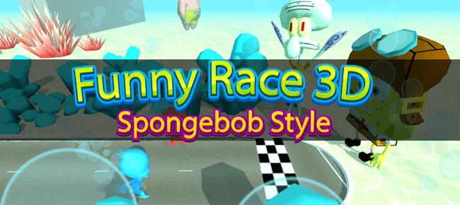 Funny Spongebob Racer 3D