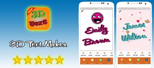 3D Text Maker – 3D Text On Pictures