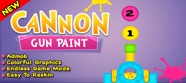 Cannon Gun Paint Game For IOS