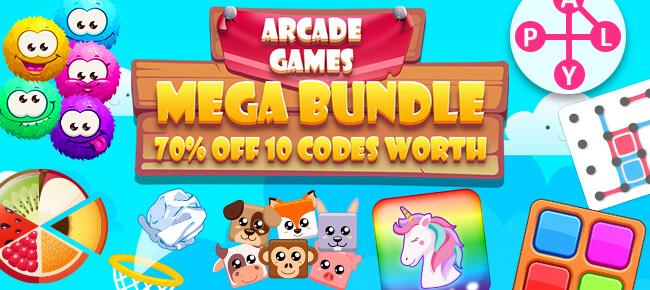Arcade Games Mega Bundle: 10 Codes worth $820 -70% OFF!