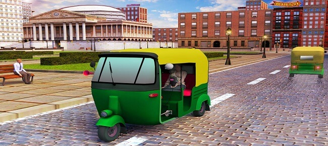 Rickshaw Driving Games 3d : Tuk Tuk Driving Simulator