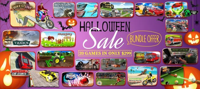 Agency 25 Halloween Bundle Offer: 20 Games worth $6,330 USD -95% OFF NOW!!