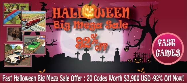 Fast Halloween Big Mega Sale Offer: 20 Codes Worth $3,900 USD -92% OFF NOW!!