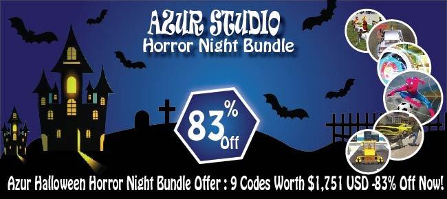 Azur Halloween Horror Night Bundle Offer: 9 Codes Worth $1,751 USD -83% OFF!!