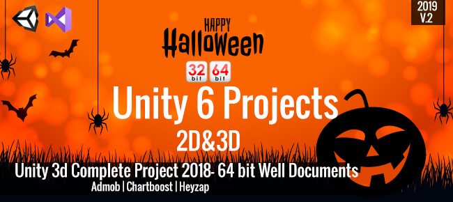 Happy Halloween Bundle: 6 Unity Games 64bit Supported 2D & 3D -85 OFF NOW!