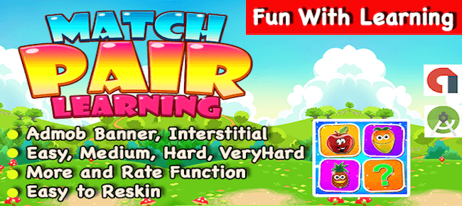 Match Pair With Learning Puzzle Game For Android
