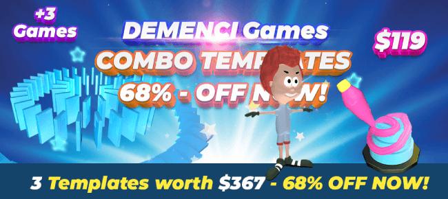 DEMENCI Games COMBO Offer: 3 Source Codes worth $367 USD -68% OFF NOW!