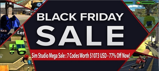 Sim Studio's Black Friday Mega Sale: 7 Codes worth $1,073 USD -77% OFF NOW!