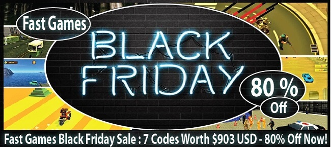 Fast Games Black Friday Sale: 7 Codes Worth $903 USD -80% OFF NOW!