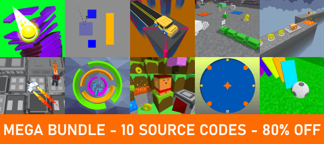 Clawbear Games Unity Mega Bundle: 10 Source Codes worth $650 USD – 80% OFF!