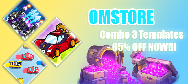 Omstore Merge Cars Game Unity COMBO: 3 Games worth $297 USD -65% OFF!