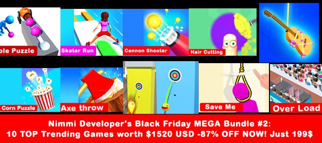 Nimmi Developer's Black Friday MEGA Bundle #2: 10 Trending Games -87% OFF!