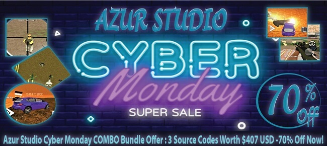 Azur Cyber Monday COMBO Offer: 3 Source Codes Worth $407 USD -70% OFF!