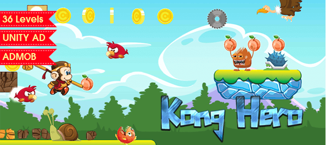 Kong Hero – Platformer Complete Unity Game Template