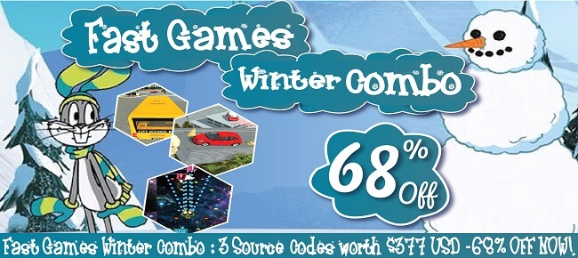 Fast Games Winter Combo: 3 Source Codes worth $377 USD -68% OFF NOW!