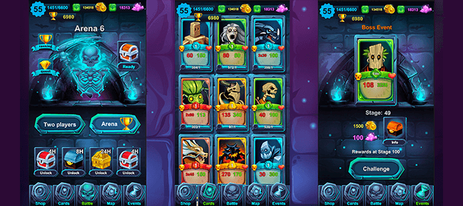 Legendary Clash Slot Fight Card RPG (Two players)