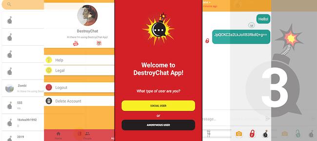Destroy Chat App