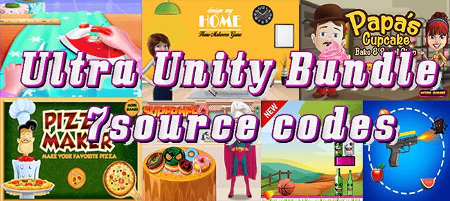 BitStar Studio Ultra Unity Bundle: 7 Source Codes worth $543 USD -55% OFF!
