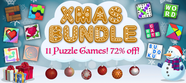 Bizzy Bee's Christmas Unity Bundle Offer: 11 Puzzle Games -72% OFF NOW!