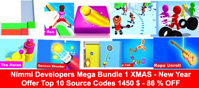 Nimmi's Xmas Mega Unity Bundle #1: 10 Games $1,450 USD -86% OFF NOW!