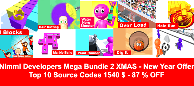 Nimmi's Xmas Mega Unity Bundle #2: 10 Games $1,540 -87% OFF!