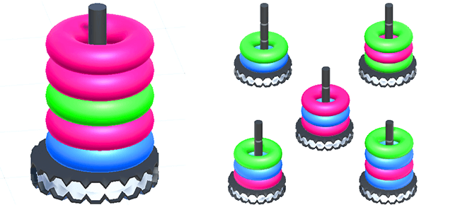Hoop Stack 3D Puzzle