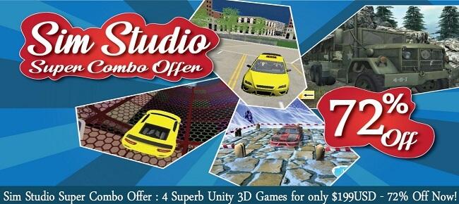 Sim Studio Super COMBO: 4 Superb Unity 3D Games For Only $199 USD!