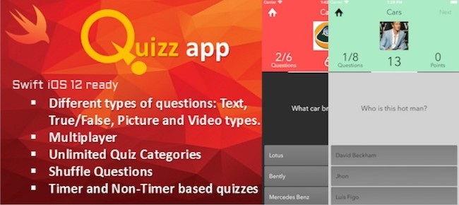 Quiz App iOS Template with Admin tool