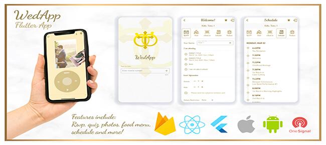 Wedding App built with Flutter + Dashboard