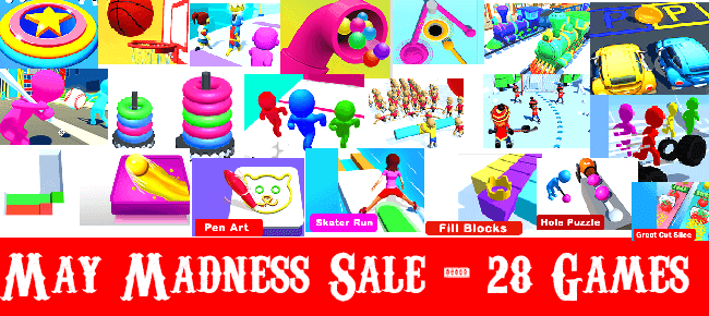 Nimmi Developers May Madness Mega Bundle Offer #1: Top 28 Games -93% OFF!