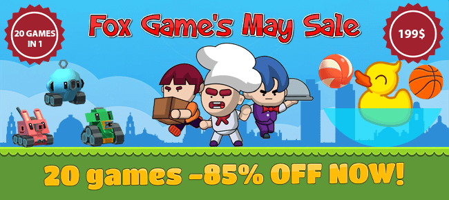 Fox Game's May Sale Bundle Offer: 20 Top Trending Games -85% OFF NOW!