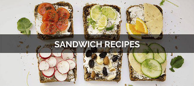 Sandwich Recipes with photo