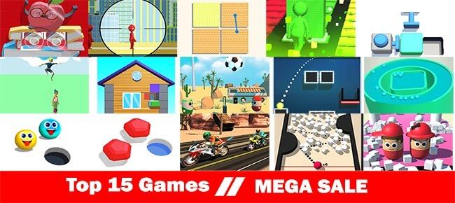 Dollar 99Games Mega Bundle Offer: Top 15 Games -90% OFF NOW!