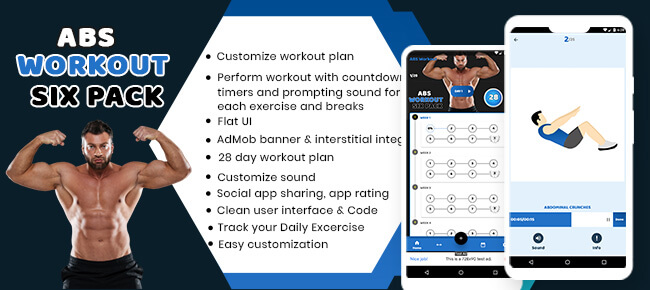 Abs Workout sixpack app with admob ready to publish