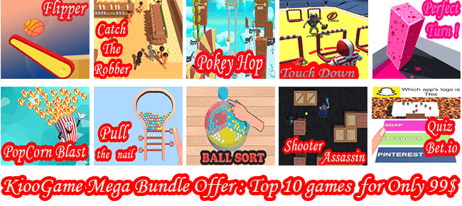 Kioo Games Mega Bundle Offer: Top Trending 10 Games -87% OFF NOW!