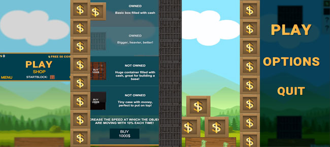 Box stacker: Stack Your Cash