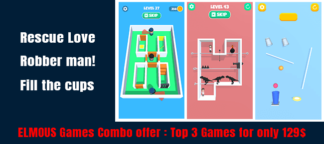 ELMOUS Games Super COMBO Offer | 3 TOP Trending Games -56% OFF NOW!