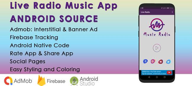 Music Single Radio Android App for Live Streaming Radio