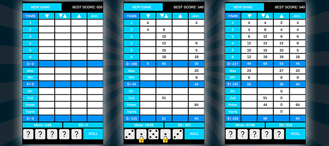 YAMB – dice puzzle game