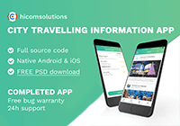 Buy City Travelling Info iOS source code - Sell My App